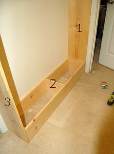 Detailed tutorial for building a built-in bookcase.