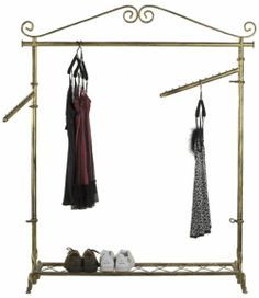 Decorative clothing rack with double hangrails is designed to add warmt, boutique atmosphere to your store Retro Girls, Garment Racks, Store Fixtures, Hanging Rail, Boutique, Elegant Outfit, Wardrobe Rack, Sweet Home, Clothing Racks