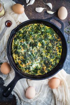 1. Kale and Garlic Frittata #healthy #greens #recipes http://greatist.com/eat/green-vegetables-recipes-for-every-meal
