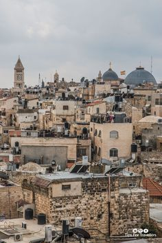 | Old City across to Christian Quarter from Ramparts Jerusalem Israel-3 | Images of Jerusalem Israel taken on my visit to talk at the TBEX International travel bloggers conference March 2017