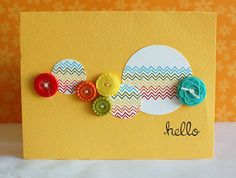 Teri Anderson used Belinda's Borders from Lawn Fawn to create those sweet rainbow chevrons. Don't you just love how the circles are repeated with the cute buttons?