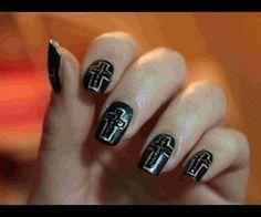 Gothic Nail Art ❤ {Partecipazione al concorso di Carinaoggi} - YouTube