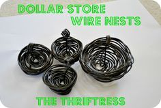 The Thriftress: Spring/Easter Wire Nest Tutorial