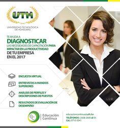 """Te invita """"Educación Continua de #UTH"""" Campus San Pedro Sula #Honduras"""