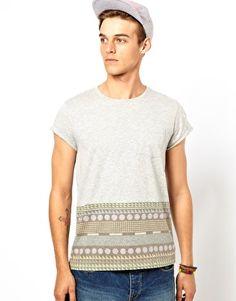 ASOS T-Shirt With Hem Pattern