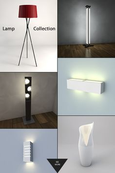 3D Lamp Collection Maxon Cinema 4d, Flooring, Models, 3d, Lighting, Wall, Collection, Home Decor, Templates