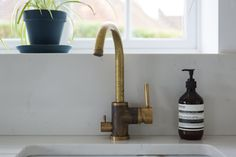 This gorgeous raw brass tap is from Swedish brand Tapwell.