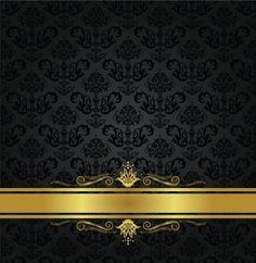 Flourish damask pattern background crown pinterest flourish black and gold stopboris Image collections