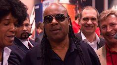 Stevie Wonder at the Hohner NAMM booth #nammshow #hohnermusic