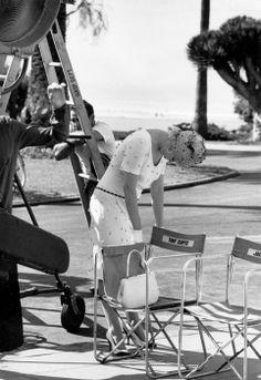 "Marilyn Monroe on set of ""Some Like It Hot"" 1959"