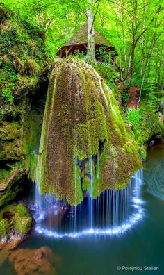 Bigar Waterfall, Nature Reserve, Romania Bigăr is one of the most unusual waterfalls in the world and one of the most beautiful in Romania. According to The World Geography, there are a number of facts that place her as number one on the list of eight unique waterfalls around the world due to the way the water spreads and falls in tiny shreds of water.