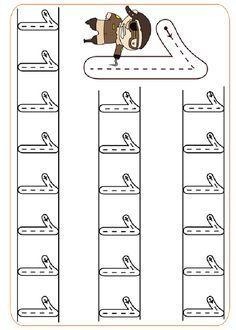 Pre-School Numbers Line Studies (New) - Preschool Children Akctivitiys Pre K Worksheets, Kindergarten Math Worksheets, Writing Worksheets, Preschool Activities, Preschool Writing, Numbers Preschool, Kindergarten Portfolio, Math For Kids, Writing Skills
