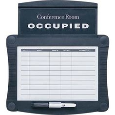 "Quartet Conference Room Scheduler Wall Mounted Whiteboard, 14""x 15.3"""