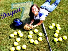 senior pics, super cute for a softball player!