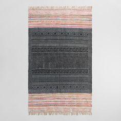 5'x8' Hand Block Print Sagara Area Rug - v1