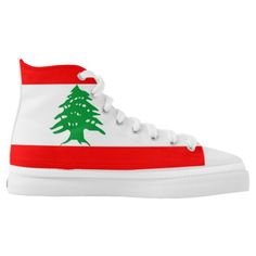 Shop Lebanon country flag symbol nation High-Top sneakers created by Personalize it with photos & text or purchase as is! Lebanon Flag, Beirut Lebanon, Lebanon Country, Santa Fe Springs, Custom Sneakers, On Shoes, Flags, High Tops, High Top Sneakers
