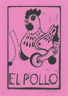 El Pollo by CornflowerPress on Etsy, $14.00