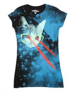 Awesome t-shirt - laser cat eyes!!