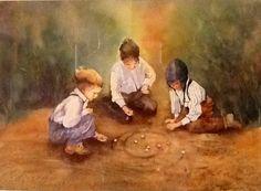 Childhood Memories Watercolour by Pat Thomson  patthomson.artistwebsites.com