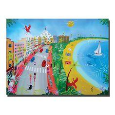 """Trademark Fine Art Herbet Hofer 'Ocean Drive' 24"""" x 32"""" Canvas Art"""