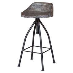 Kairu Gray Glazed Driftwood Bar Stool Uttermost Bar Height (28 To 36 Inch) Bar…