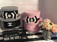 Jan 2020 - Bridal Shower Ideas on Decorations, Themes, Bridal Shower Favors and Games, FREE Printable Bridal Shower Games, FREE Printable Favors Chanel Birthday Party, Paris Themed Birthday Party, Chanel Party, Paris Party, Chanel Bridal Shower, Paris Bridal Shower, Chanel Room, Chanel Decor, Paris Theme Centerpieces
