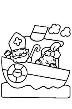 Sint en Piet op de stoomboot
