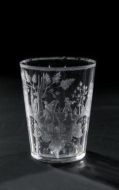 Glas Buquoy`sche Glashütte Gratzen, Dekorausführung Carl Josef Lechner, E. 18. Jh.