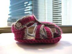 Casual Sandals Crochet Baby Booties Pattern
