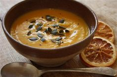 Orange and cumin infused butternut soup |