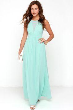Bright Like a Diamond Mint Maxi Dress at Lulus.com!
