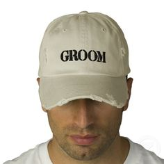 Baseball cap for the #groom  Repinned by Annie @ www.perfectpostage.com