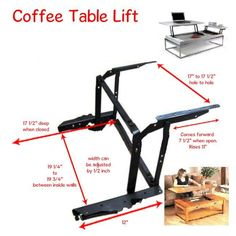 Lift Up Top Coffee Table DIY Mechanism Hardware Fitting Furniture Hinge Spring B