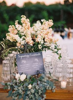 Rustic Chic Napa Valley Wedding at Long Meadow Ranch Mod Wedding, Floral Wedding, Wedding Colors, Rustic Wedding, Wedding Flowers, Dream Wedding, Napa Valley, Wedding Signature Drinks, Signature Cocktail