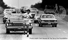 Terry Fox Running Across Canada to Raise Money and Awareness for Cancer Research. Check out the Terry Fox Run