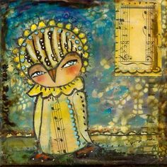Items similar to Owl Art Print - inch Print of a Reproduction of the Original Mixed Media Painting Window Of Opportunity by Juliette Crane on Etsy Owl Art, Mixed Media Painting, Whimsical Art, Crane, Fine Art Paper, Fantasy Art, Artsy, Art Prints, Opportunity