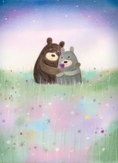 Leading Illustration & Publishing Agency based in London, New York & Marbella. Cute Animal Illustration, Winter Illustration, Children's Book Illustration, Soft Pastel Art, Children's Picture Books, Bear Art, Cute Bears, Cute Drawings, Cute Pictures