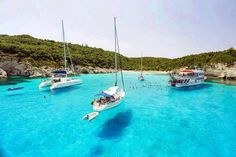 Voutoumi Bay in Antipaxos Island - Greece