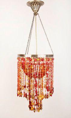 bead chandelier boncuk avize ligthing