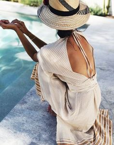 8 Beachwear Brands Every Fashion Editor Will Try to Buy First via clothes summer outfits Heading Off for Some Winter Sun? Don't Miss These 5 Chic Beachwear Brands Looks Chic, Looks Style, Moda Fashion, Womens Fashion, Fashion Hats, Runway Fashion, Ladies Fashion, Fashion Clothes, Fashion Outfits