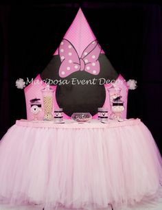 Mariposa Event Decor 's Baby Shower / Minnie Mouse - Photo Gallery at Catch My Party Minnie Mouse Decorations, Minnie Mouse Theme, Minnie Mouse Baby Shower, Baby Mouse, Barbie Birthday, Minnie Birthday, 1st Birthday Girls, Birthday Ideas, Boy Baby Shower Themes