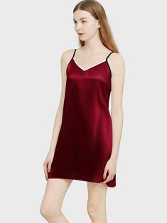 Short Silk Nighty, Pure Mulberry Silk Night Slips | Elle Silk Silk Sleepwear, Silk Pajamas, Sleepwear Women, Silk Baby Blanket, Womens Nighties, Silk Bedding, Size Chart For Kids, Crib Skirts, Satin Blouses