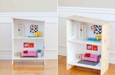 Turn a Rast nightstand into a modern dollhouse.
