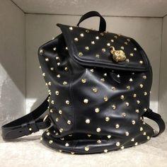 Backpack by #AlexanderMcQueen #backpack #metalstuds #FolliFollie #FW14collection