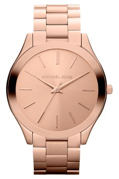 There's something so irresistible about a rose gold watch...