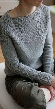 Women's Hand Knit Boatneck Sweater 32C