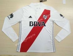 2017 18 CA River Plate Away White LS Thailand Soccer Jersey AAA 3186ee266