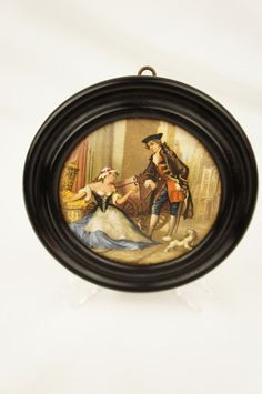 19th Century Framed Prattware Pot Lid Cries of London Series Sweet Oranges by TheLotAntiquesandArt