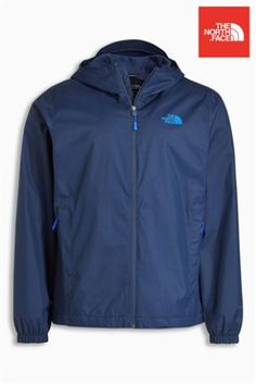 Buy The North Face® Blue Quest Jacket from the Next UK online shop Mens Raincoat, Next Uk, Uk Online, Hooded Jacket, The North Face, Jackets, Blue, Stuff To Buy, Shopping
