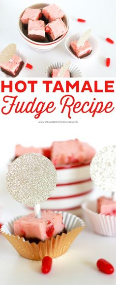 This Hot Tamale Fudge Recipe is an amazingly delicious Valentine's Day Treat! Plus, you'll love all these Valentine's Day desserts from 11 Creative Foodies! Fudge Recipes, Candy Recipes, Dessert Recipes, Valentines Day Desserts, Party Desserts, Valentines Diy, Hot Tamales Candy Recipe, Valentine Fudge Recipe, Toffee